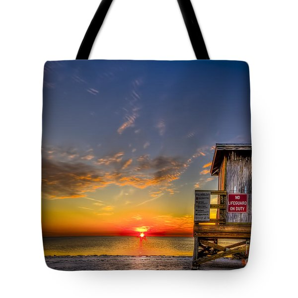 No Life Guard On Duty Tote Bag by Marvin Spates