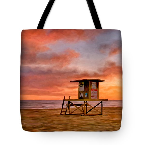 No Lifeguard On Duty At The Wedge Tote Bag