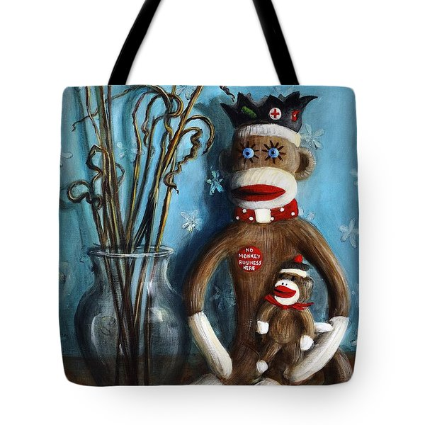 No Monkey Business Here 1 Tote Bag