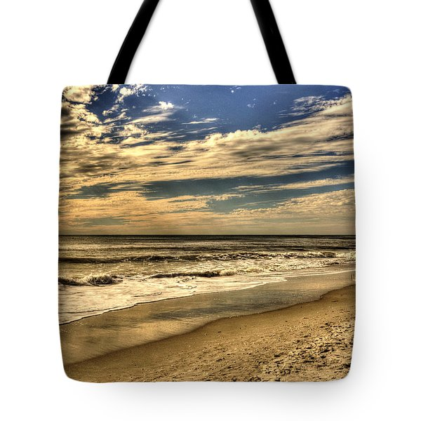 Tote Bag featuring the photograph No More Surfing Today by Julis Simo