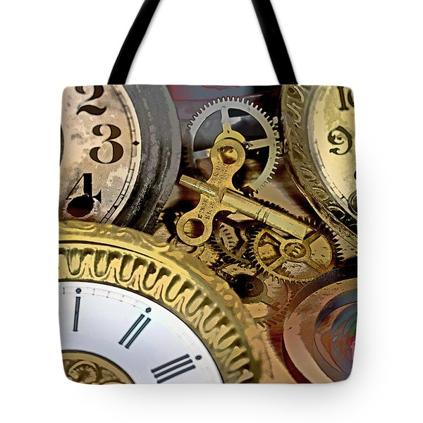 No More Time Tote Bag by Tom Gari Gallery-Three-Photography