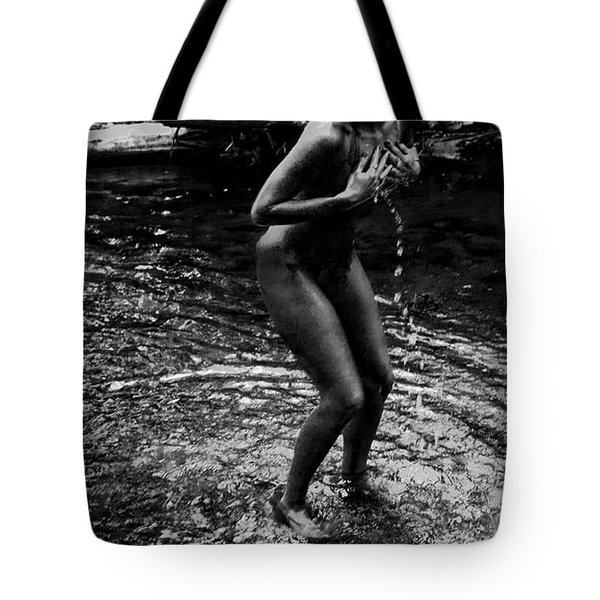 No One Is Watching Tote Bag by Kristie  Bonnewell