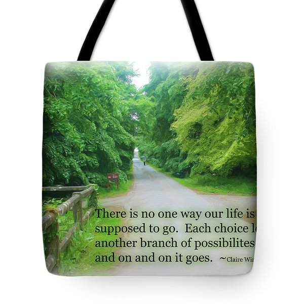 Tote Bag featuring the photograph No One Way by Beauty For God