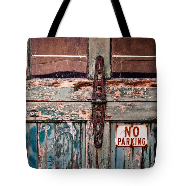 Tote Bag featuring the photograph No Parking by Greg Jackson