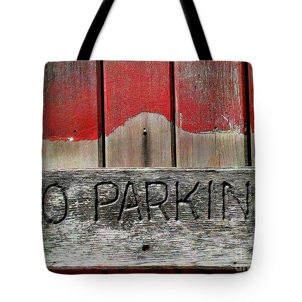 No Parking Tote Bag by James Aiken