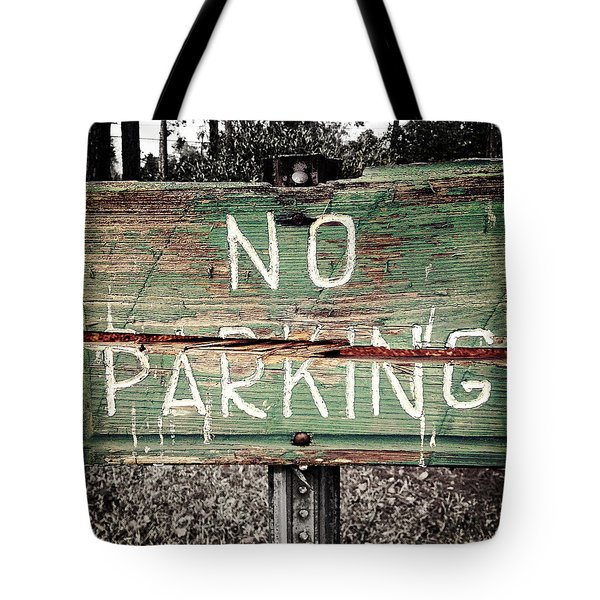 No Parking Tote Bag by Scott Pellegrin