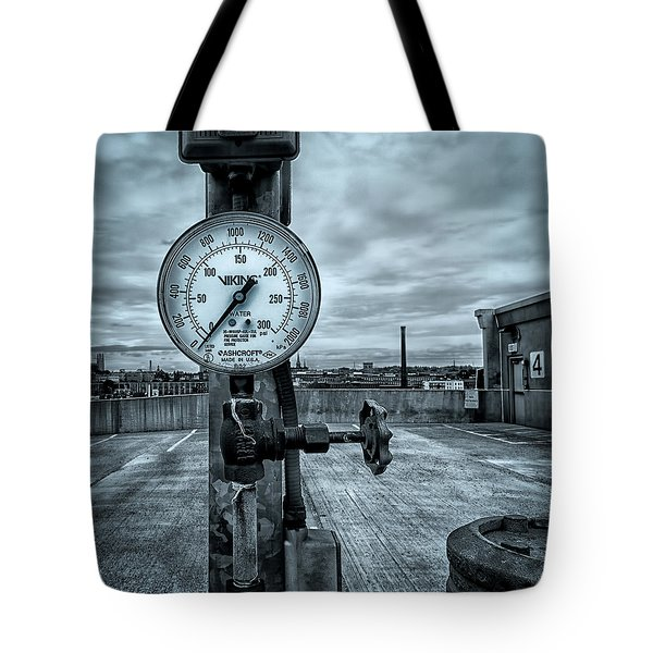 No Pressure Or The Valve At The Top Of The City  Tote Bag by Bob Orsillo