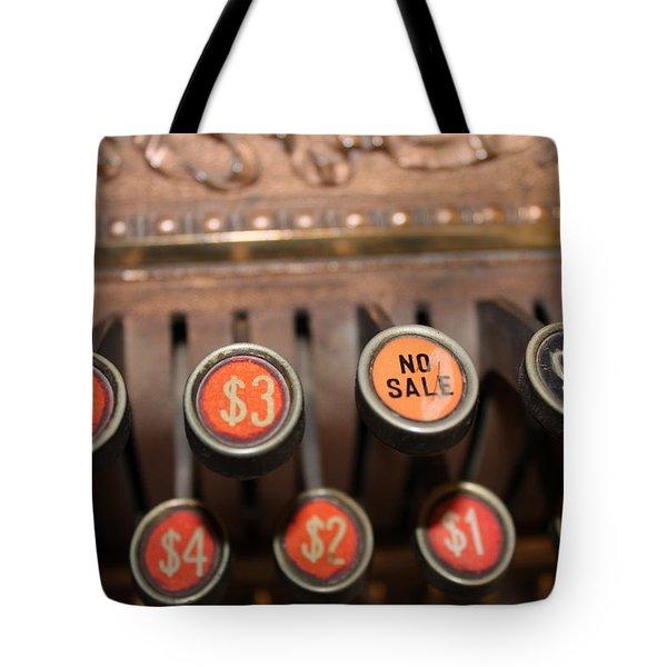 No Sale Tote Bag by Lynn Sprowl