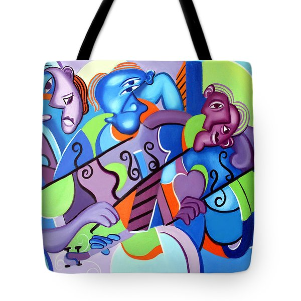 Tote Bag featuring the painting No Strings Attached by Anthony Falbo
