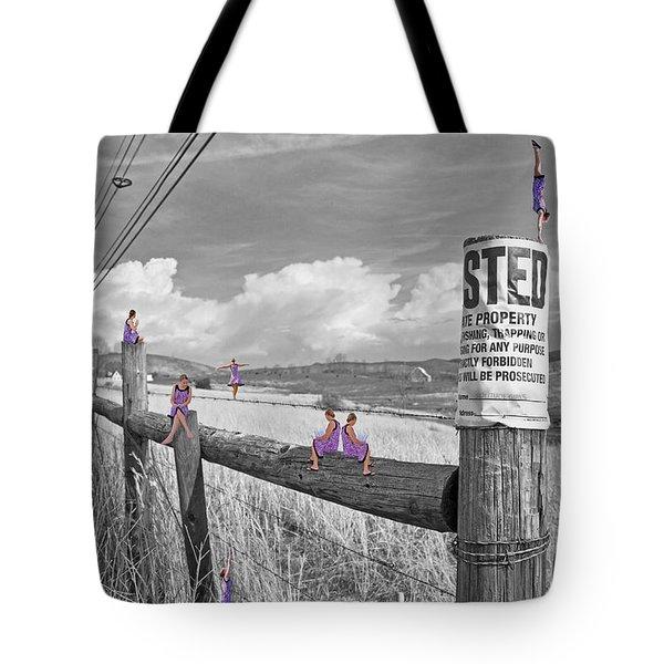 No Trespassing Tote Bag by Betsy Knapp