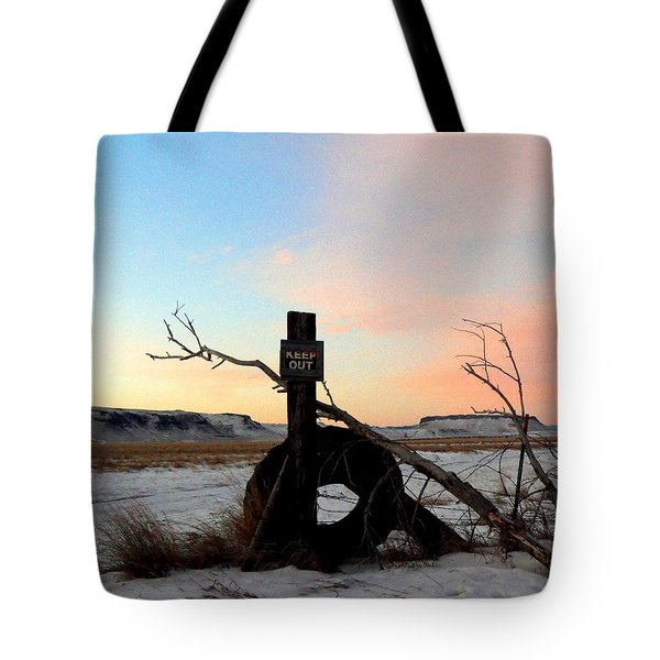 No Trespassing Tote Bag by Desiree Paquette