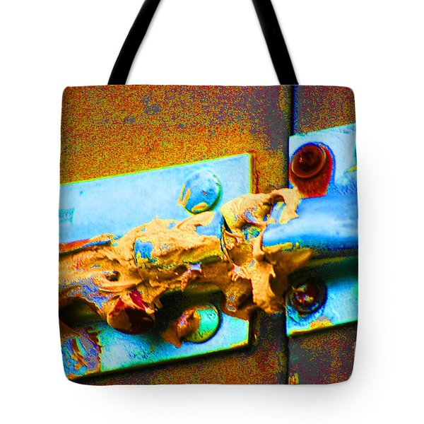 Tote Bag featuring the photograph No Trespassing by Christiane Hellner-obrien
