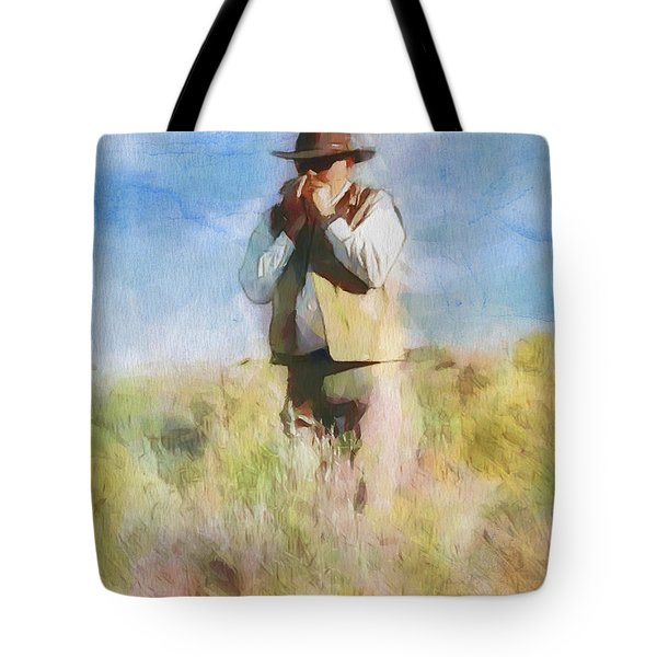 Tote Bag featuring the painting No Useless Cares by Greg Collins