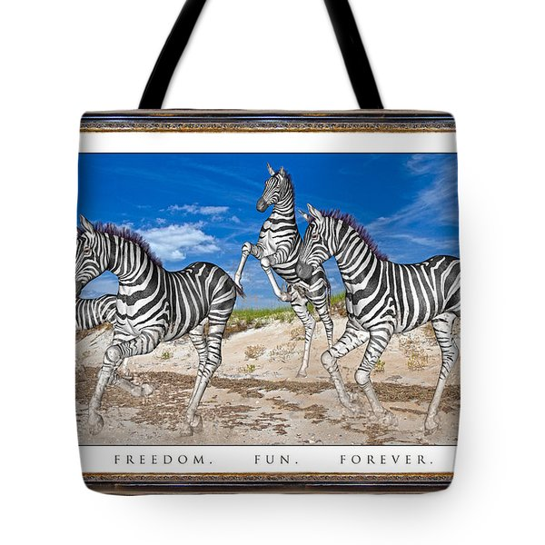 No Zoo Zebras Tote Bag