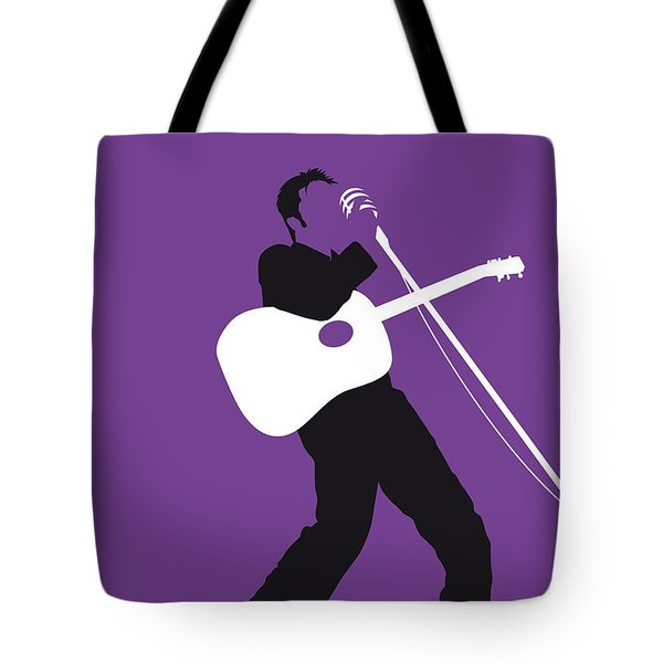 No021 My Elvis Minimal Music Poster Tote Bag