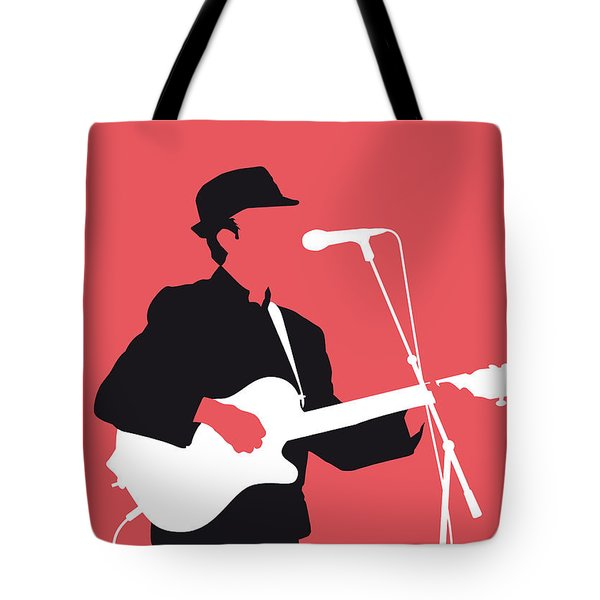 No042 My Leonard Cohen Minimal Music Tote Bag