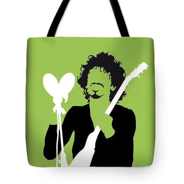 No046 My Santana Minimal Music Poster Tote Bag