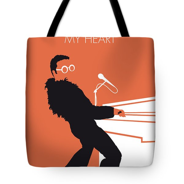 No053 My Elton John Minimal Music Poster Tote Bag by Chungkong Art