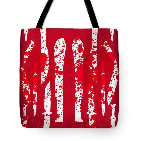 No114 My Machete Minimal Movie Poster Tote Bag by Chungkong Art