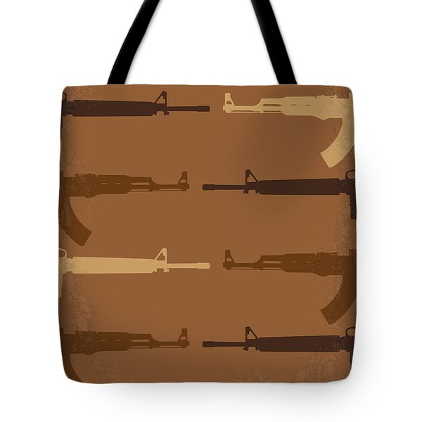 No115 My Platoon Minimal Movie Poster Tote Bag