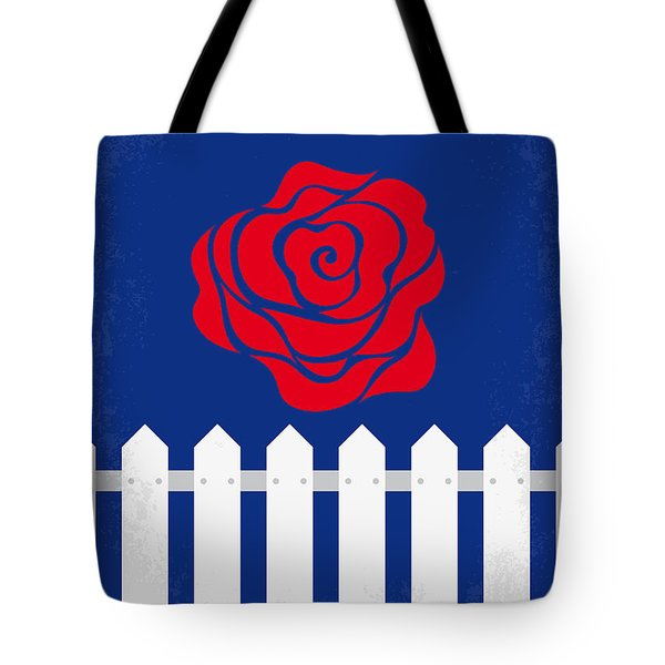 No170 My Blue Velvet Minimal Movie Poster Tote Bag by Chungkong Art