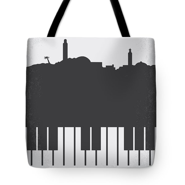 No192 My Casablanca Minimal Movie Poster Tote Bag