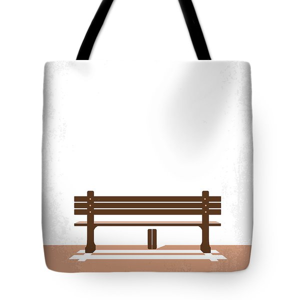 No193 My Forrest Gump Minimal Movie Poster Tote Bag