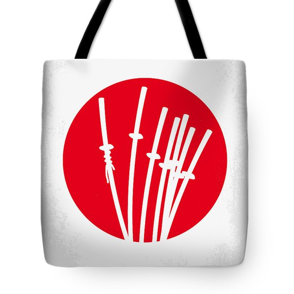 No200 My The Seven Samurai Minimal Movie Poster Tote Bag by Chungkong Art