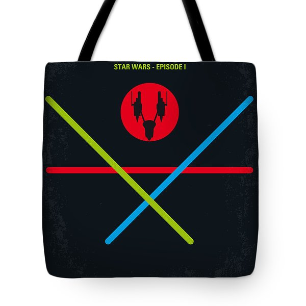 No223 My Star Wars Episode I The Phantom Menace Minimal Movie Poster Tote Bag