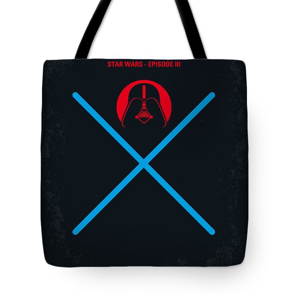 No225 My Star Wars Episode IIi Revenge Of The Sith Minimal Movie Poster Tote Bag