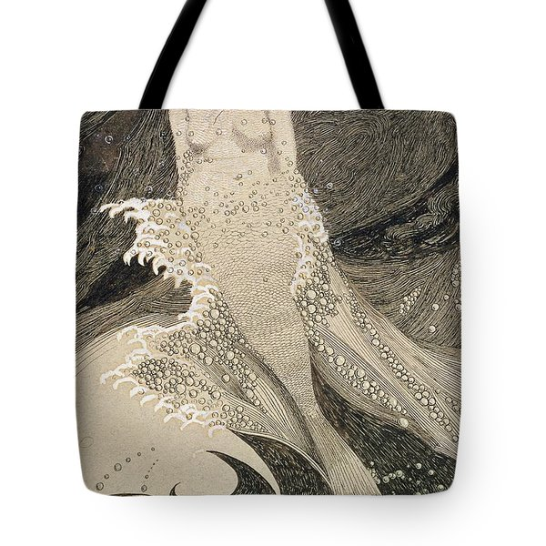 The Mermaid Tote Bag by Sidney Herbert Sime