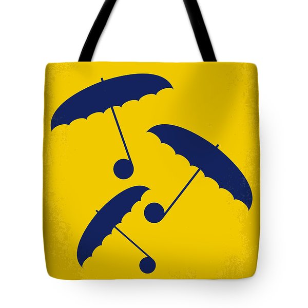 No254 My Singin In The Rain Minimal Movie Poster Tote Bag
