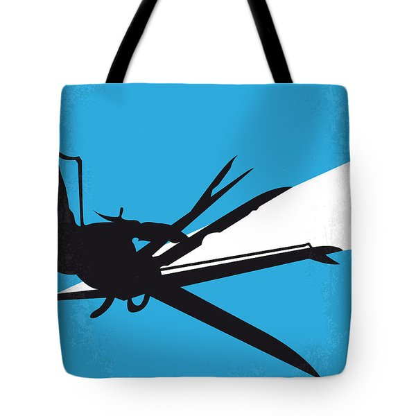 No260 My Scissorhands Minimal Movie Poster Tote Bag by Chungkong Art