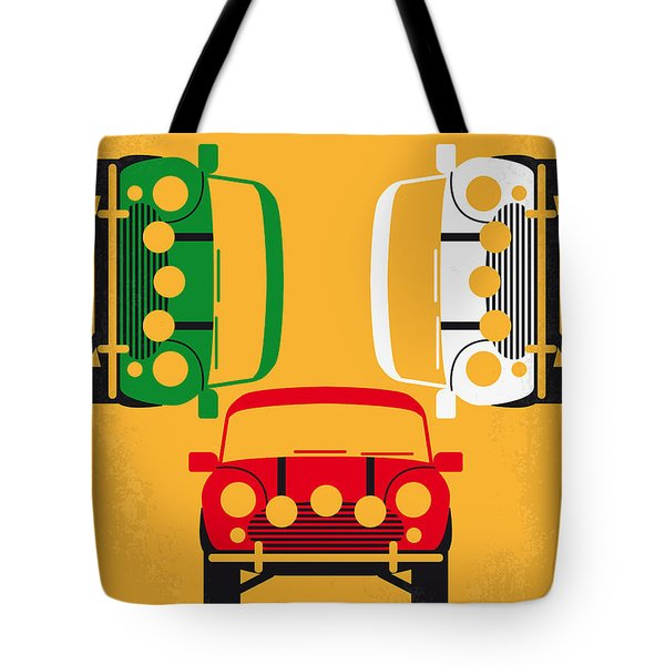 No279 My The Italian Job Minimal Movie Poster Tote Bag