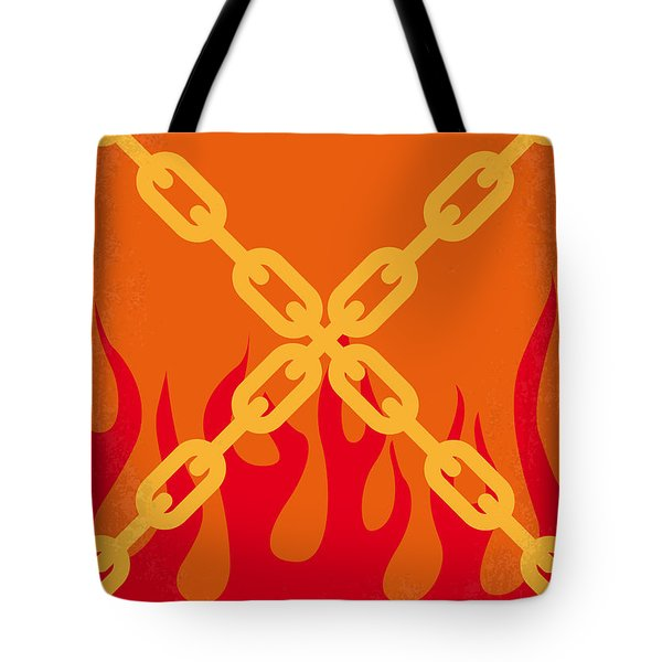No296 My Ghost Rider Minimal Movie Poster Tote Bag by Chungkong Art