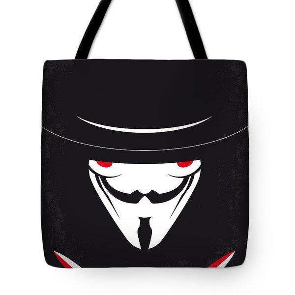No319 My V For Vendetta Minimal Movie Poster Tote Bag