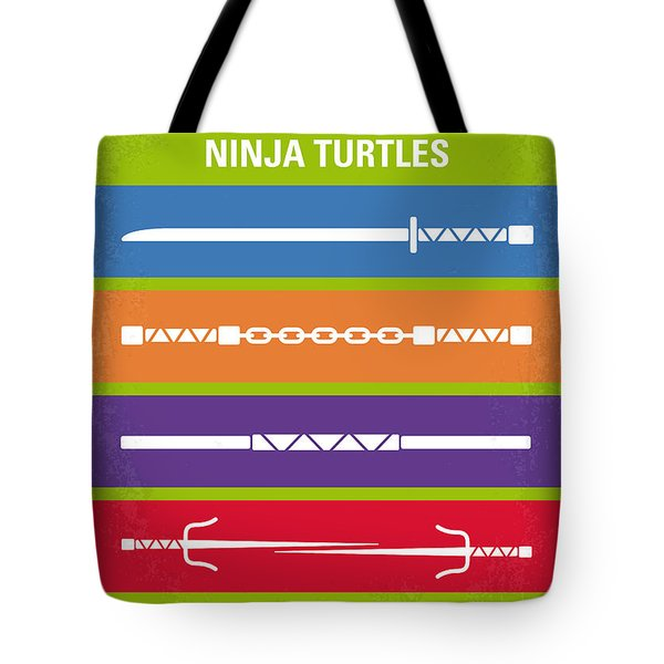 No346 My Teenage Mutant Ninja Turtles Minimal Movie Poster Tote Bag