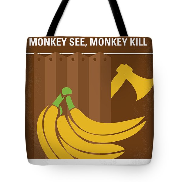 No356 My Serial Ape-ist Minimal Movie Poster Tote Bag