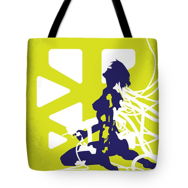 No366 My Ghost In The Shell Minimal Movie Poster Tote Bag