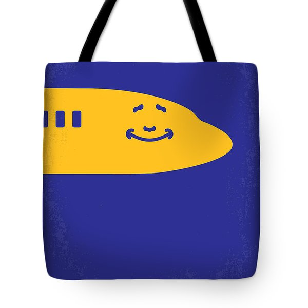 No392 My Airplane Minimal Movie Poster Tote Bag