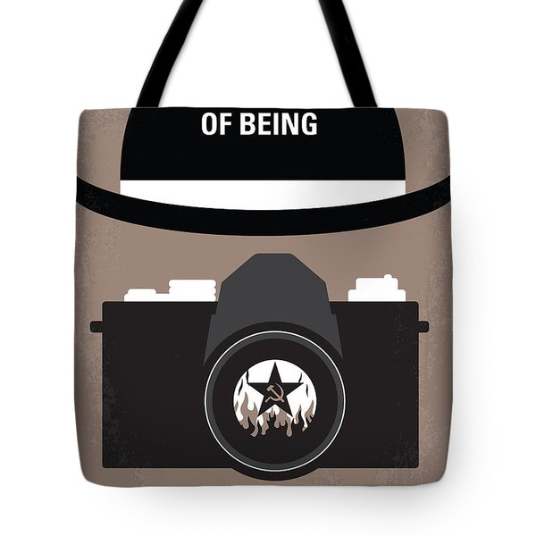 No401 My The Unbearable Lightness Of Being Minimal Movie Poster Tote Bag