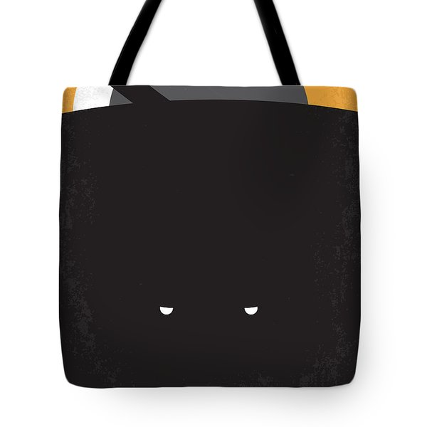 No409 My Pitch Black Minimal Movie Poster Tote Bag