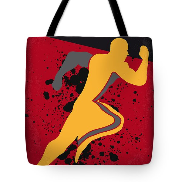 No425 My Running Man Minimal Movie Poster Tote Bag
