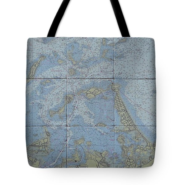 Noaa Chart Of Boston Harbor  Tote Bag