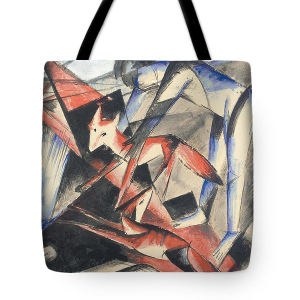 Noah And The Fox Tote Bag by Franz Marc