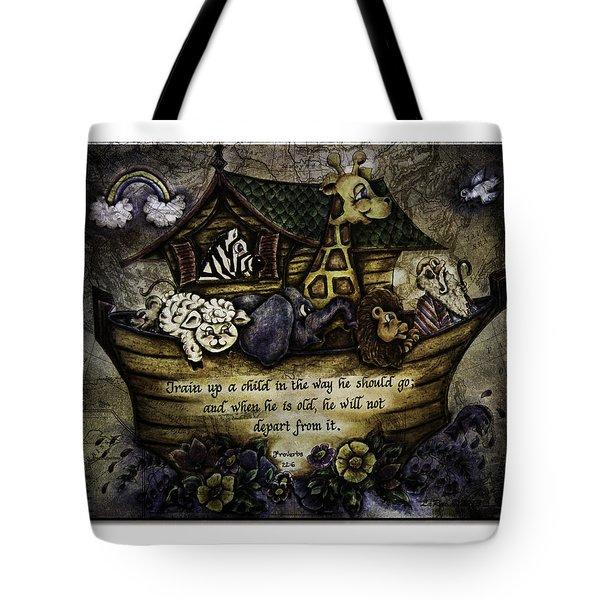 Noah's Ark Tote Bag by La Rae  Roberts