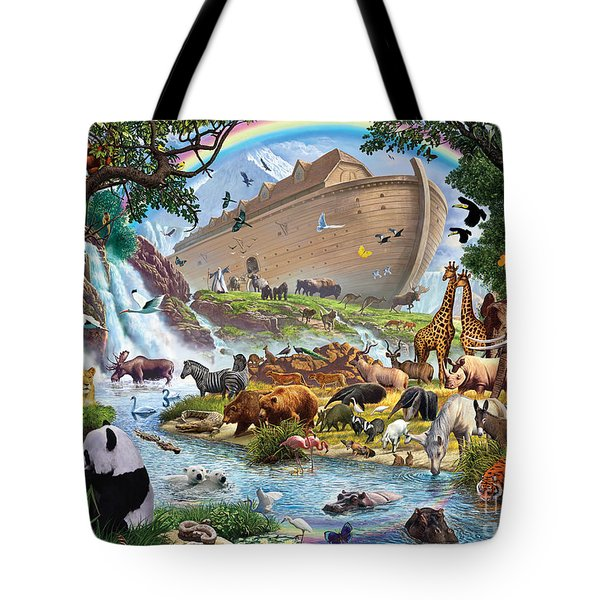Noahs Ark - The Homecoming Tote Bag by Steve Crisp