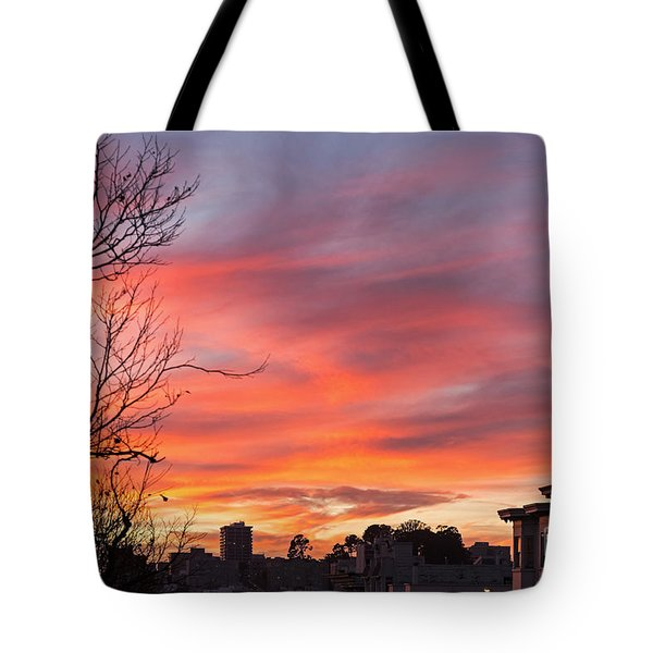 Nob Hill Sunset Tote Bag