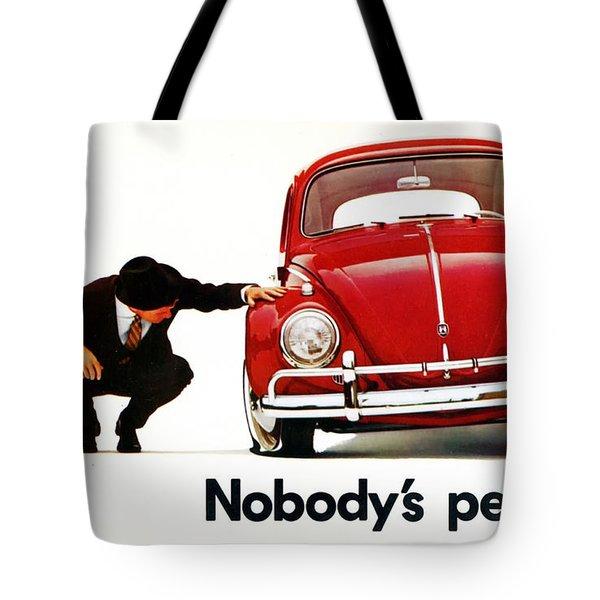 Nobodys Perfect - Volkswagen Beetle Ad Tote Bag