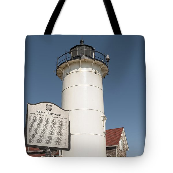 Tote Bag featuring the photograph Nobska  Lighthouse Cape Cod Ma  by Marianne Campolongo